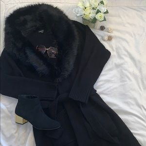 Torrid Faux Fur Collar with Pockets and Waist Sash